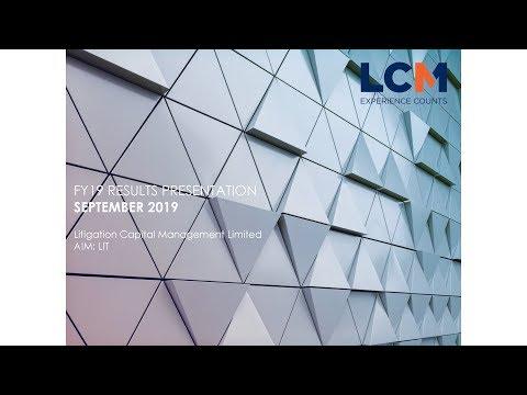 Litigation Capital Management (LIT) investor presentation November 2019