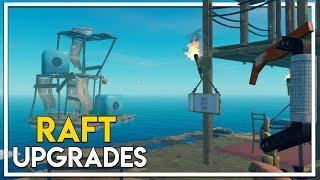 Raft Multiplayer! - Raft Upgrades & Our First Island! (Season 2 Part 2)
