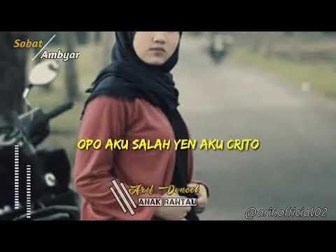 Opo Aku Salah Yen Aku Cerito Lirik Youtube