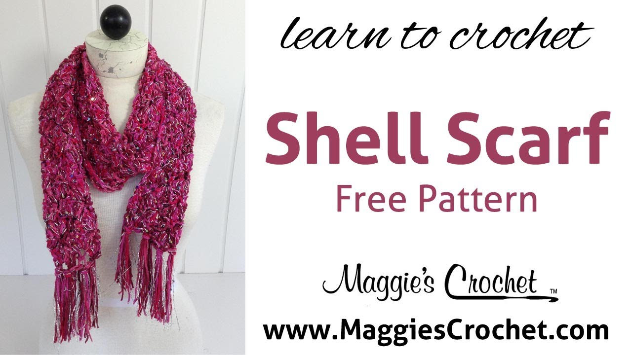 Beginner Shell Scarf Free Crochet Pattern with Hipster & Enchant ...