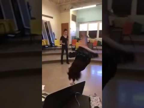 Teacher cartwheel video unedited