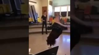 RAW FOOTAGE of Pawhuska Teacher doing cartwheel without panties
