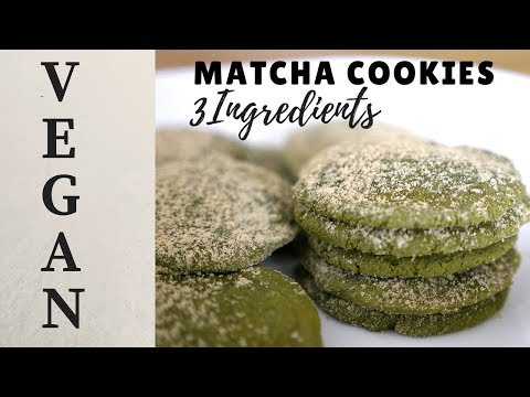 Matcha Cookies 3 Ingredients || VEGAN Gluten-free, Oil-free