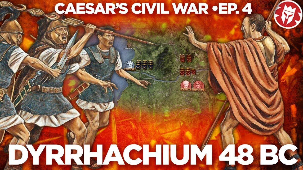 Battle of Dyrrhachium 48 BC - Caesar against Pompey DOCUMENTARY