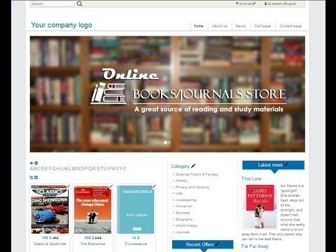 Make Online store books or journals  (e Commerce) website   A-Z