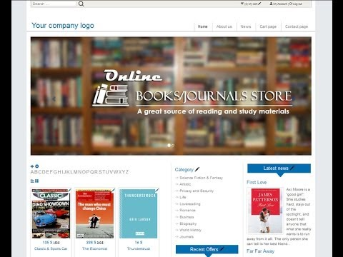 Make Online Store Books Or Journals  (e Commerce) Website   A-Z