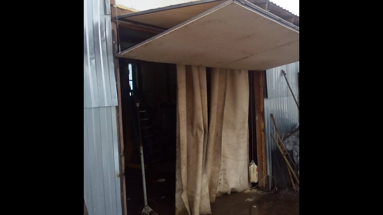 Подъёмные гаражные ворота своими руками - монтаж 18