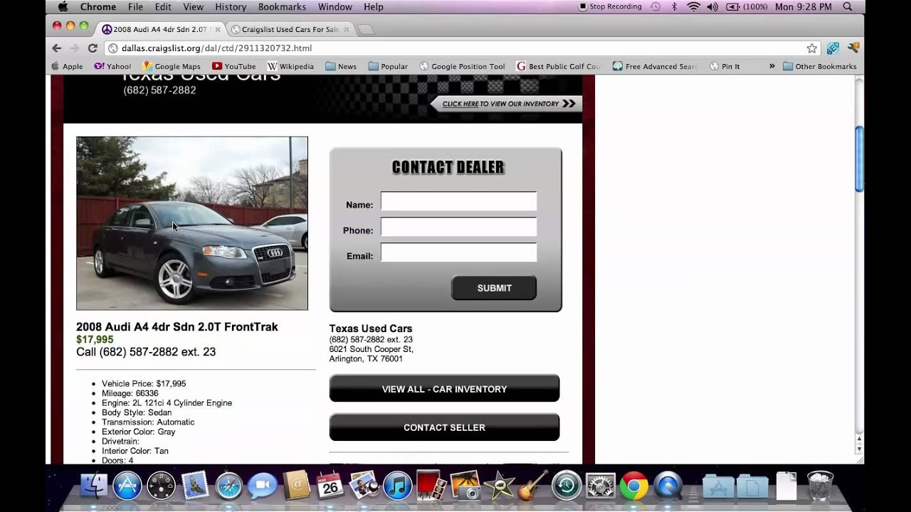 Craigslist Dallas TX Used Cars