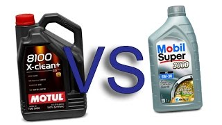 Motul 8100 X-Clean+ 5w30 vs Mobil Super 3000 xe 5W30 test