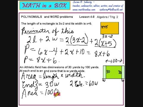 Area Word Problems (videos, worksheets, solutions, activities)