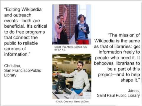 Wikipedia for Libraries Online Training Preview