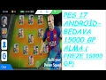 Pes  17 Android  - BEDAVA 15000 GP KAZANMA ( FREE  15000 GP )