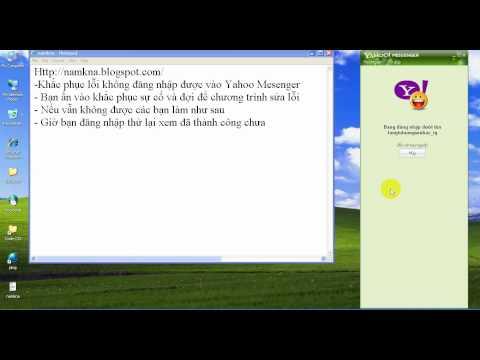 Sửa Lỗi Không Vào được Yahoo Messenger