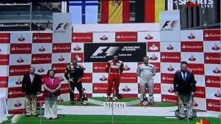 3 Heroes of Ferrari (Podium F1 GP Valencia 2012) [HD]