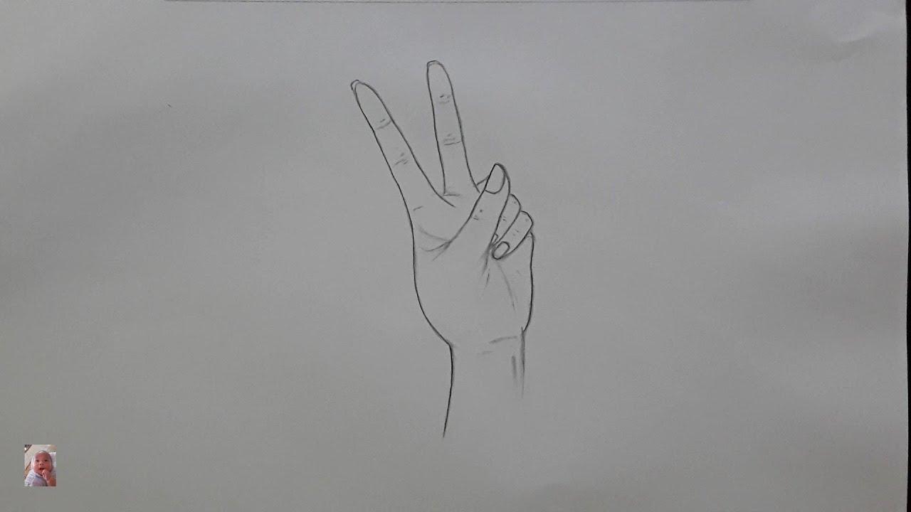 Vẽ tay bằng bút chì đơn giản nhất – Hand-drawn with the simplest pencil.