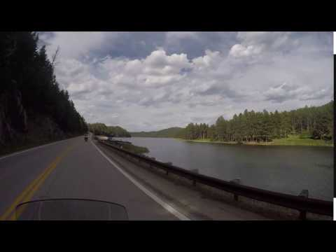 Small lake travelling through the Black Hills, SD