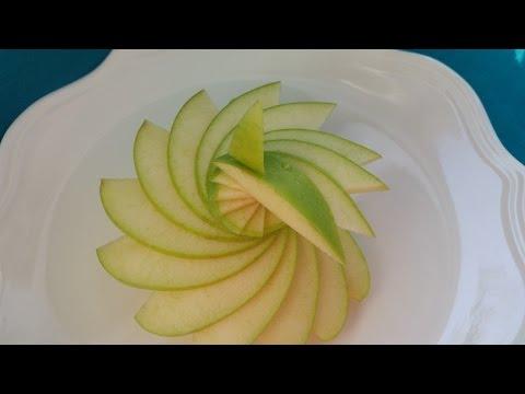 Как красиво подать яблоки