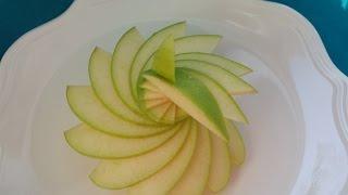 Украшение из яблока. Как красиво нарезать яблоко...