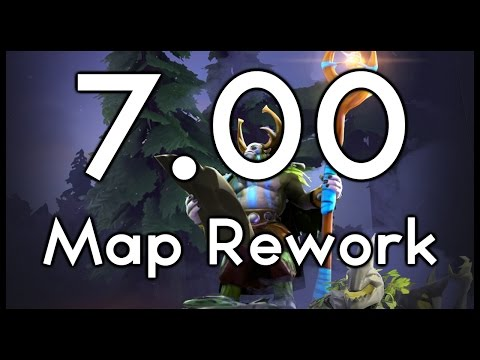 Dota 7.00 New Map Layout Overview and Analysis