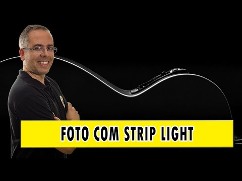 foto minimalista usando strip light