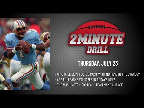 THE WASHINGTON FOOTBALL TEAM NAME CHANGE | 2 Minute Drill: Thursday, July 23 | PFF