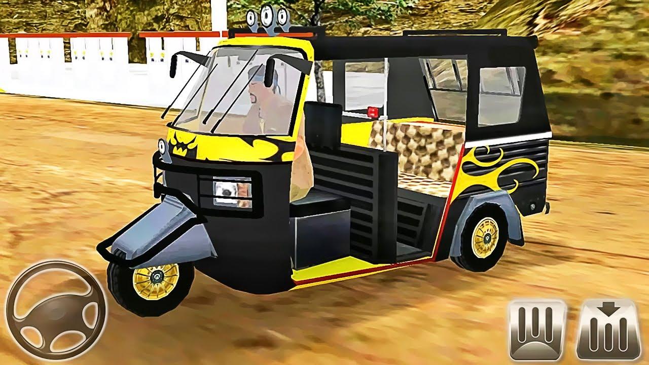 Offroad Tourist Tuk Tuk - Auto Rickshaw Racing Taxi - Android GamePlay