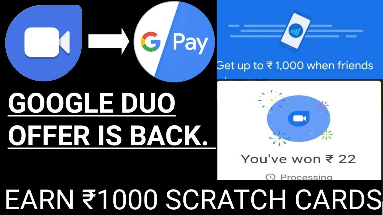 Image result for Gpay Scratch Card with Google Duo