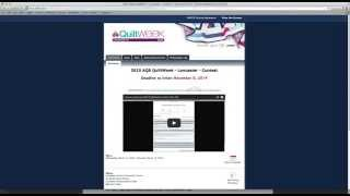 how to enter aqs quiltweek online