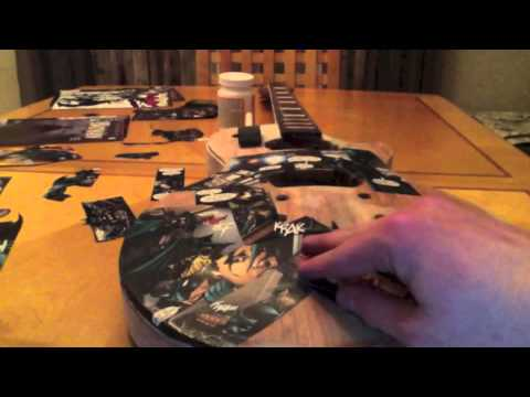 easy to make comic book guitar design how to decoupage youtube. Black Bedroom Furniture Sets. Home Design Ideas