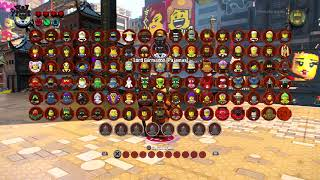 The LEGO Ninjago Movie Video Game - All 101 Characters Showcase (Entire Character Roster)