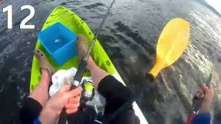 [HD] Kayak fishing Tasmania, Hobart flathead, June 2016 (カヤックからコチ祭り、タスマニア州ホーバト市, 2016年6月) 8HD)