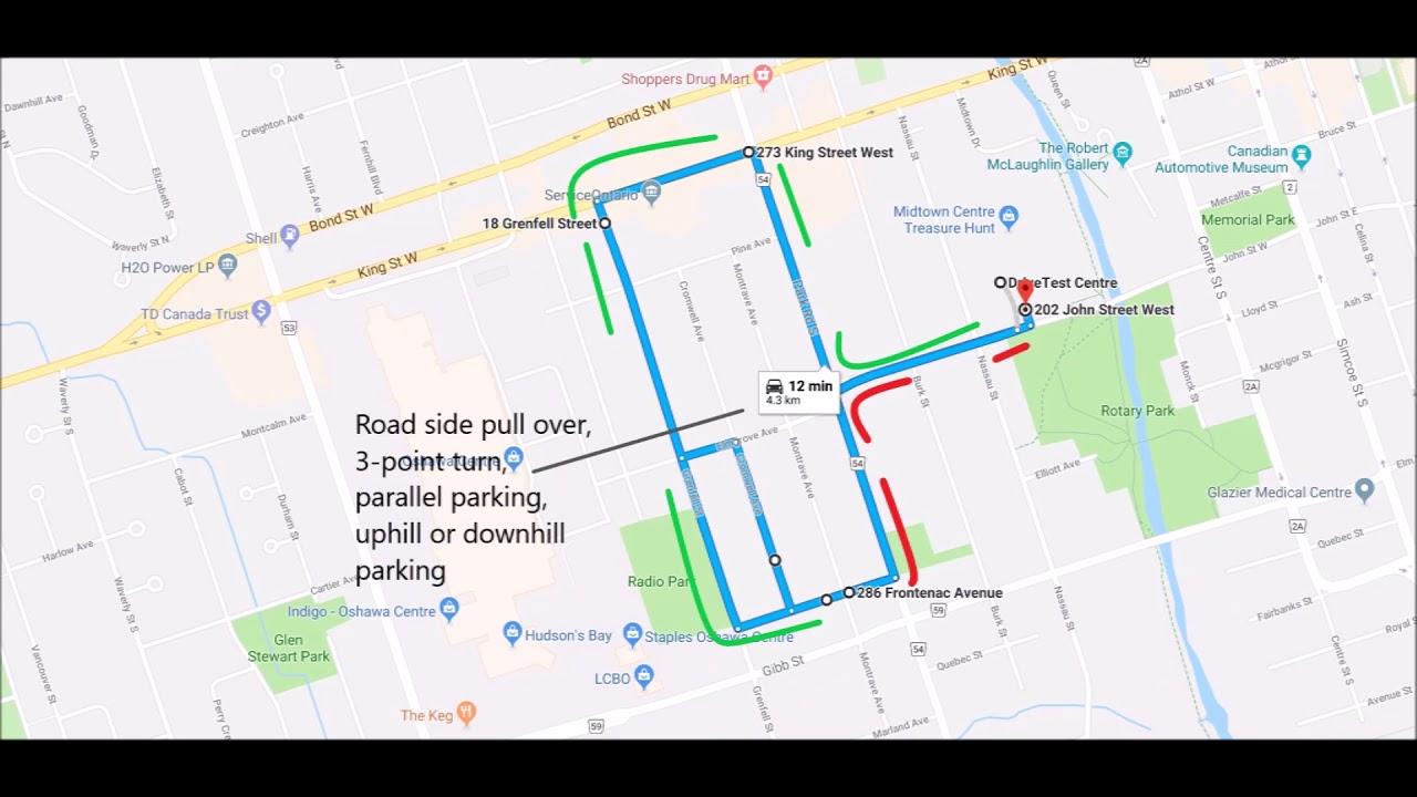 Newmarket Drive Test Centre >> Oshawa Drive Test Centre G2 Route