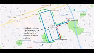 Oshawa drive test centre G2 route