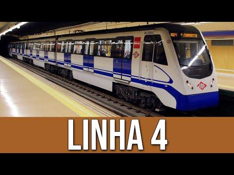 Linha 4 do Metrô de Madrid/Espanha
