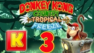 Let's Play Donkey Kong Country Tropical Freeze Part 3: Loren- und K-Level Drama