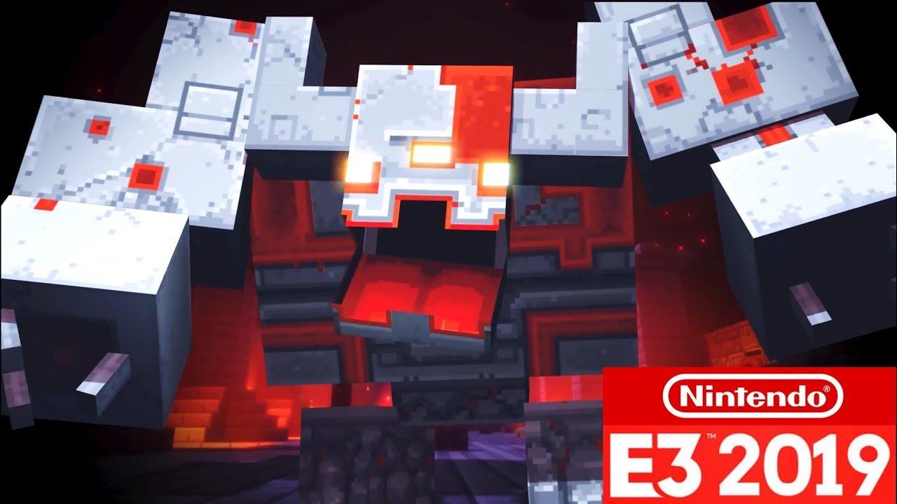 Minecraft Dungeons Trailer Gameplay Nintendo Switch E3