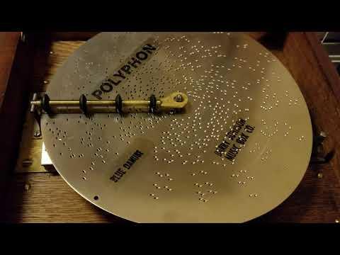 "Polyphon 11""Music Box plays Disc 2026 ""Blue Danube"""