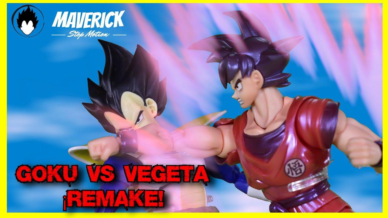 GOKU 🆚 VEGETA ¡REMAKE! || GOKU HACE EL TRIPLE KAIOKEN || STOP MOTION REVIEW || Goku Kaio-Ken SHF