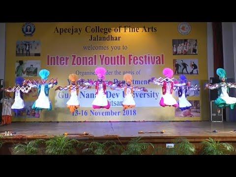 Khalsa College Amritsar Bhangra - 1st position Youth Festival Interzonal 2018