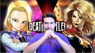 Android 18 VS Captain Marvel | DEATH BATTLE REACTION!