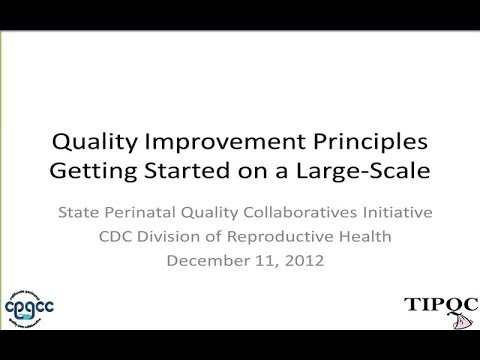 Quality Improvement Principles and Getting Started