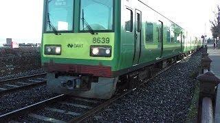 IE 8100 and 8520 Class Dart Trains - Dun Laoghaire, Dublin