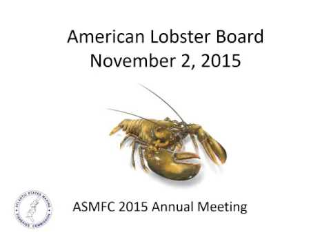 American Lobster Board Proceedings Nov2015