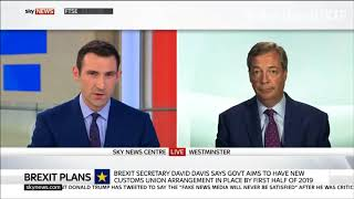 Nigel Farage says the Government is weak and EU are laughing at us