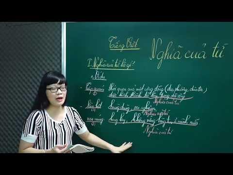 Ngữ Văn Lớp 6 –Bài Giảng Nghĩa Của Từ Ngữ Văn Lớp 6|Tiếng Việt Từ Và Câu |Cô Lê Hạnh