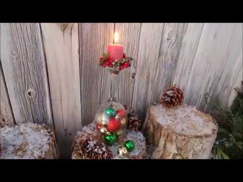 Wine Glass Candle Christmas Centerpiece