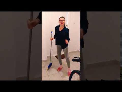 Carmen Does NASA Broom Challenge
