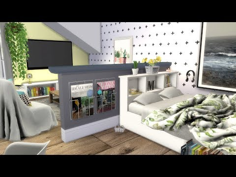 The Sims 4: Speed Build // STUDIO APARTMENT + CC Links
