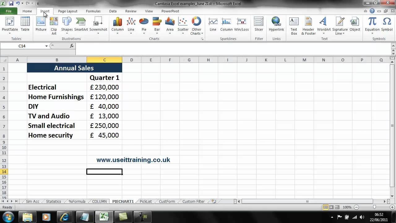 how to create pie of pie excel 2010