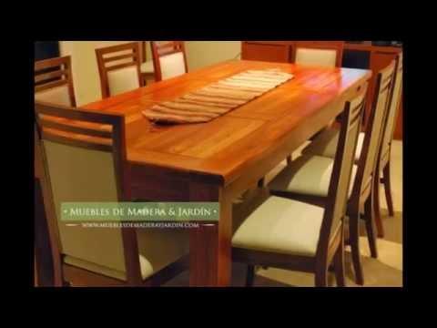 Mesas de cedro muebles de madera y jard n com youtube for Mesas de madera para jardin